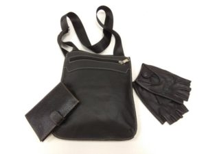 27203 Мужская сумка планшет (арт.301) из натуральной кожи, обложка для автодокументов с отделением для денег и перчатки водителя из натуральной кожи (олень)
