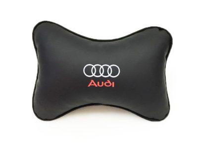 Подушка на подголовник из экокожи AUDI