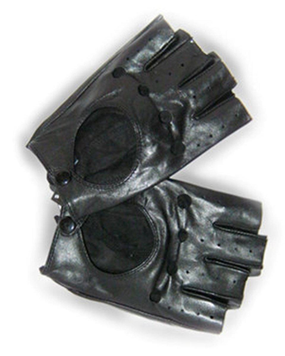 Перчатки автомобилиста, натуральная кожа ягненка, р-р 8.5, черн
