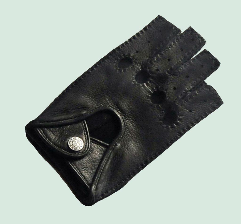 Перчатки автомобилиста, натуральная кожа оленя, р-р 9.5, черн.