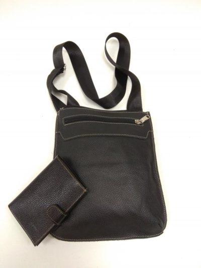 27204 Мужская сумка планшет (арт.301) из натуральной кожи и обложка для автодокументов с отделением для денег