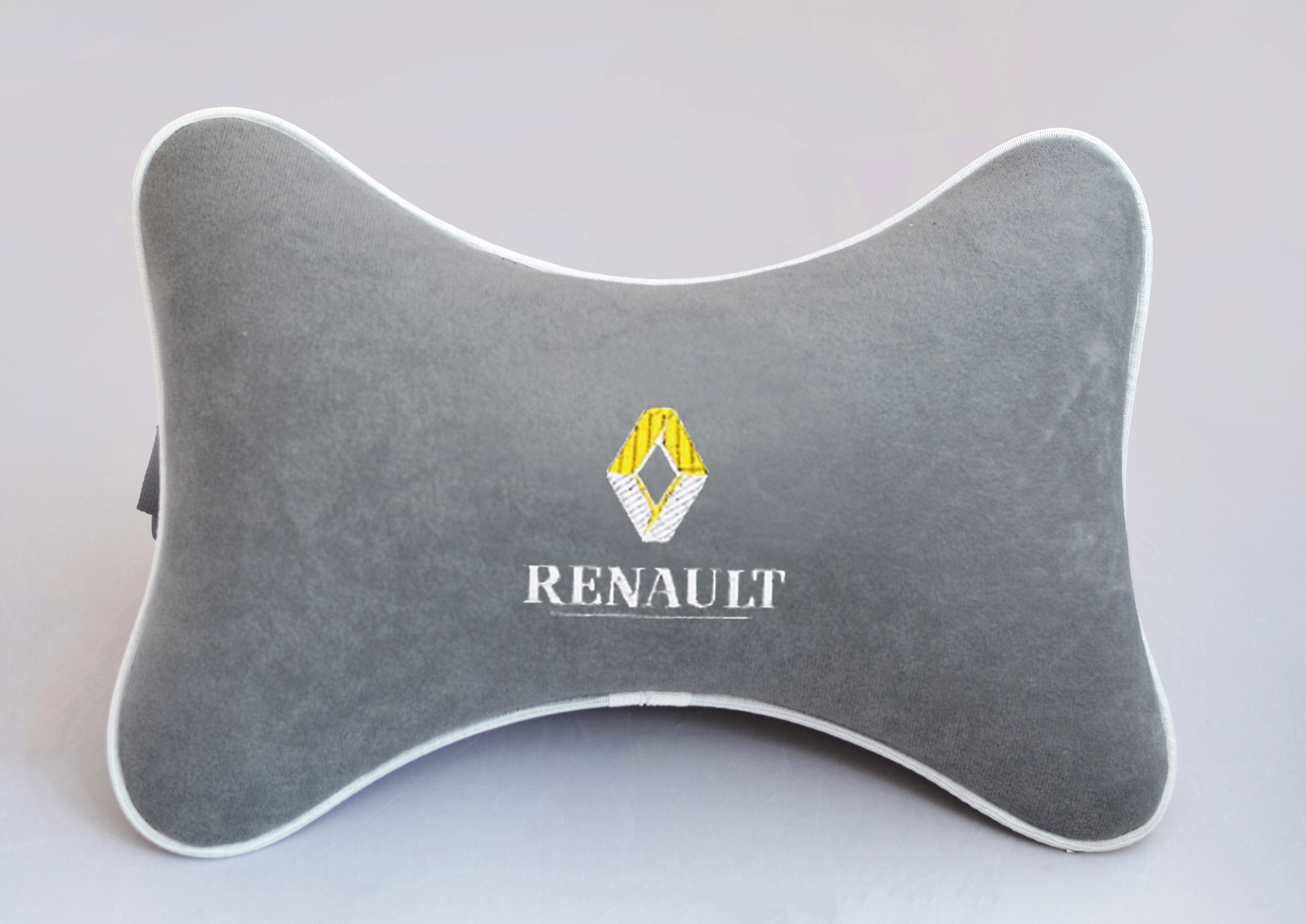 Подушка на подголовник из серого велюра RENAULT