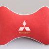 Подушка на подголовник из красного велюра MITSUBISHI