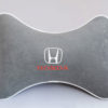 Подушка на подголовник из серого велюра HONDA