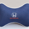 Подушка на подголовник из синего велюра HONDA
