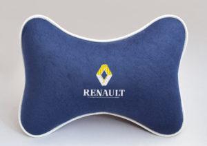 Подушка на подголовник из синего велюра RENAULT