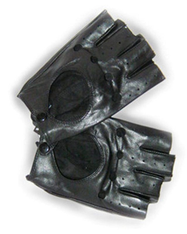 Перчатки автомобилиста, натуральная кожа ягненка, р-р 10.5, черн.