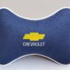 Подушка на подголовник из синего велюра CHEVROLET