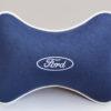 Подушка на подголовник из синего велюра FORD