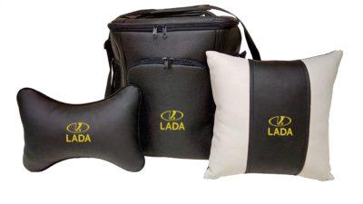 Подарочный набор (термосумка 20л, подушка на подголовник, декоративная подушка), LADA