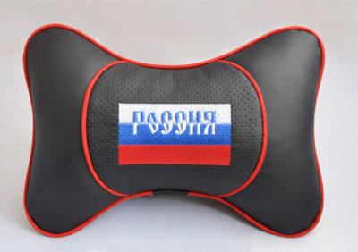 "Подушка на подголовник ""ЛЮКС"" Флаг триколор Россия"