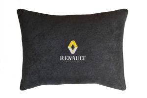 Подушка декоративная из черного велюра RENAULT