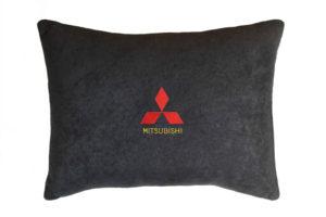 Подушка декоративная из черного велюра MITSUBISHI