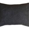 Подушка декоративная из черного велюра без логотипа