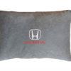 Подушка декоративная из серого велюра HONDA