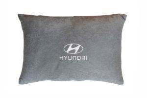 Подушка декоративная из серого велюра HYUNDAI