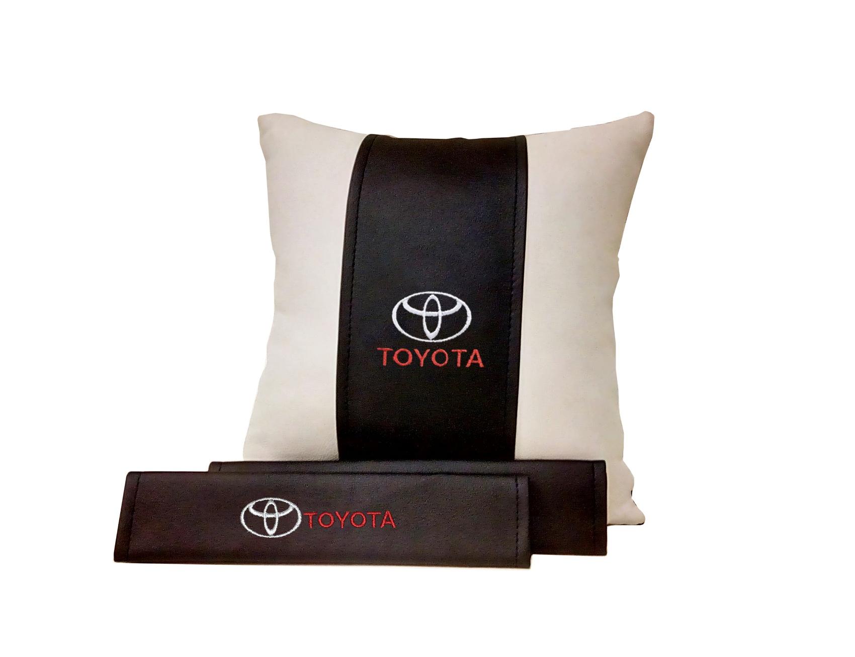 Подарочный набор (подушка декоративная+накладки на ремень безопасности), TOYOTA