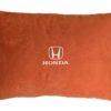 одушка декоративная из красного велюра HONDA