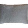 Подушка декоративная из серого велюра без логотипа