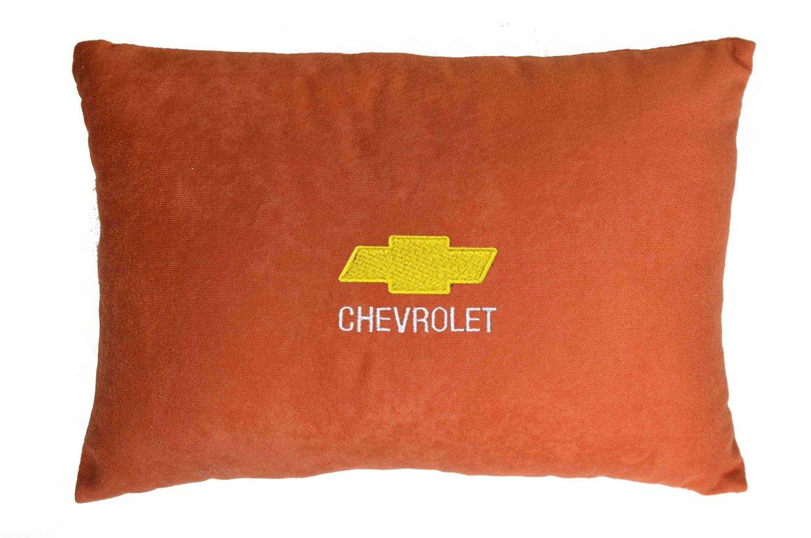 Подушка декоративная из красного велюра CHEVROLET