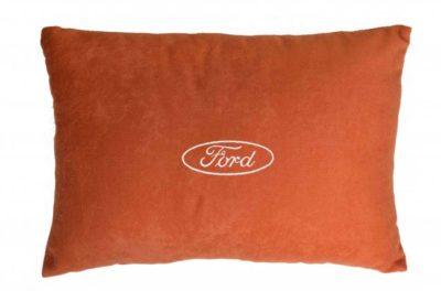 Подушка декоративная из красного велюра FORD