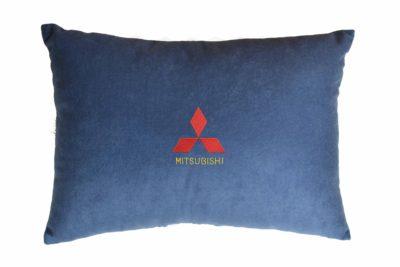 Подушка декоративная из синего велюра MITSUBISHI