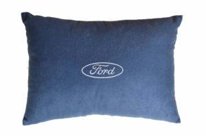 Подушка декоративная из синего велюраFORD