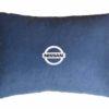Подушка декоративная из синего велюра NISSAN
