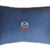 Подушка декоративная из синего велюра MAZDA