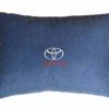 Подушка декоративная из синего велюра TOYOTA