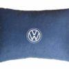 Подушка декоративная из синего велюра VOLKSWAGEN