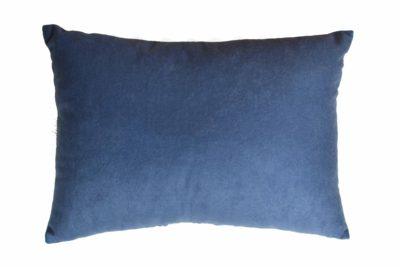 Подушка декоративная из синего велюра без логотипа