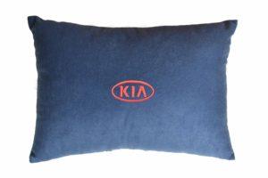 Подушка декоративная из синего велюра KIA