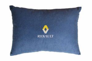 Подушка декоративная из синего велюра RENAULT