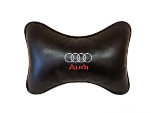 Подушка на подголовник из натуральной кожи AUDI