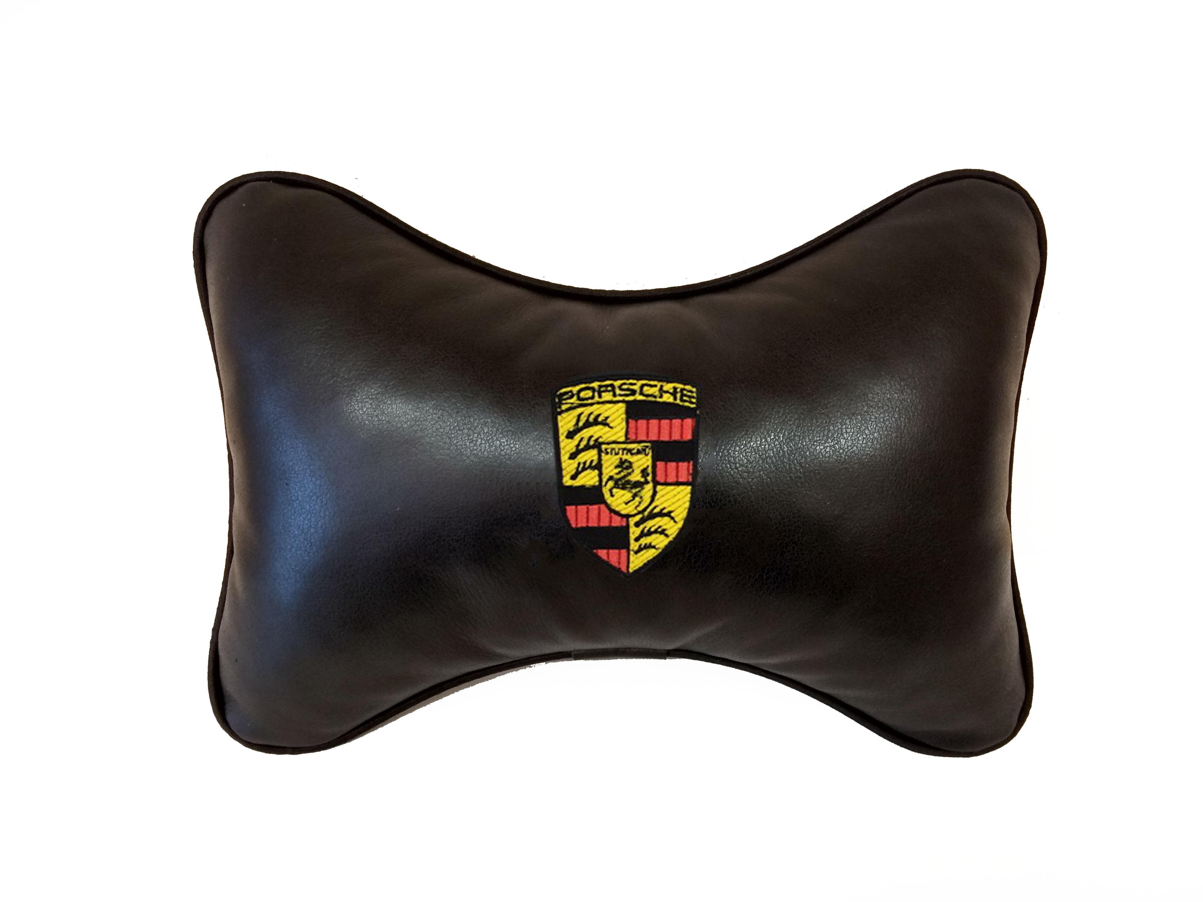 Подушка на подголовник из натуральной кожи PORSCHE