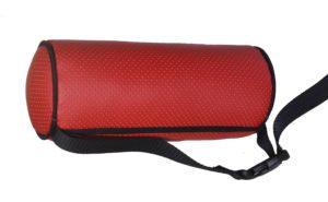 Подушка валик (диам 10 см) на подголовник красная