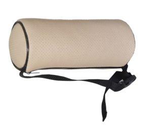 Подушка валик (диам 10 см) на подголовник бежевая