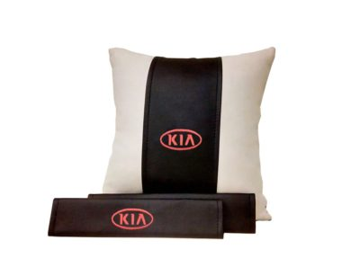 Подарочный набор (подушка декоративная+накладки на ремень безопасности), KIA