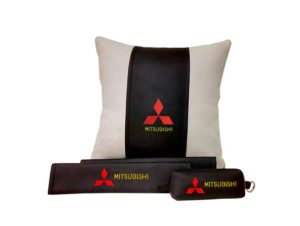 Подарочный набор (подушка декоративная+накладки на ремень безопасности+ ключница), MITSUBISHI