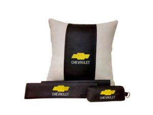 Подарочный набор (подушка декоративная+накладки на ремень безопасности+ ключница), CHEVROLET