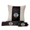 Подарочный набор (подушка декоративная+накладки на ремень безопасности+ ключница), NISSAN