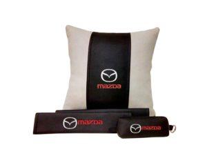 Подарочный набор (подушка декоративная+накладки на ремень безопасности+ ключница), MAZDA