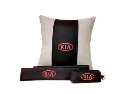 Подарочный набор (подушка декоративная+накладки на ремень безопасности+ ключница), KIA