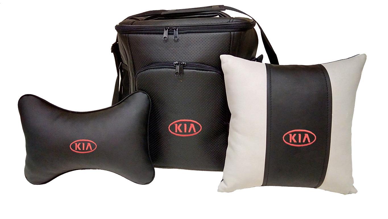Подарочный набор (термосумка 20л, подушка на подголовник, декоративная подушка), KIA