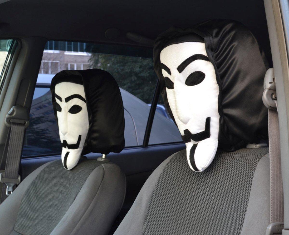 "Чехол на подголовник ""Анонимус"", спорт. трикотаж"