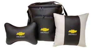 Подарочный набор (термосумка 20л, подушка на подголовник, декоративная подушка), CHEVROLET