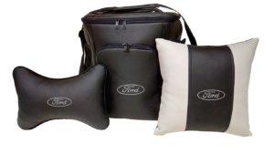 Подарочный набор (термосумка 20л, подушка на подголовник, декоративная подушка), FORD