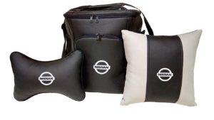 Подарочный набор (термосумка 20л, подушка на подголовник, декоративная подушка), NISSAN
