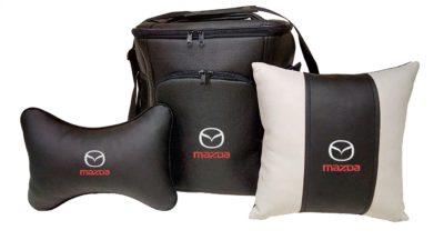 Подарочный набор (термосумка 20л, подушка на подголовник, декоративная подушка), MAZDA